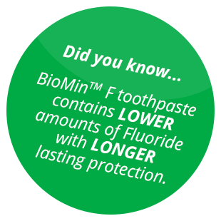Low Fluoride Protection with BioMin™ F